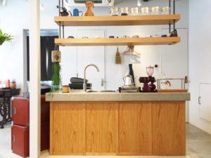 高槻市の美容室 コーヒーカウンター正面