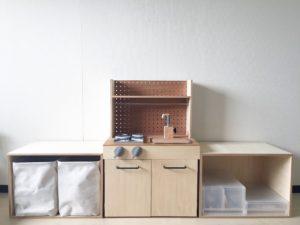 高槻市の美容室 無印 収納 DIY